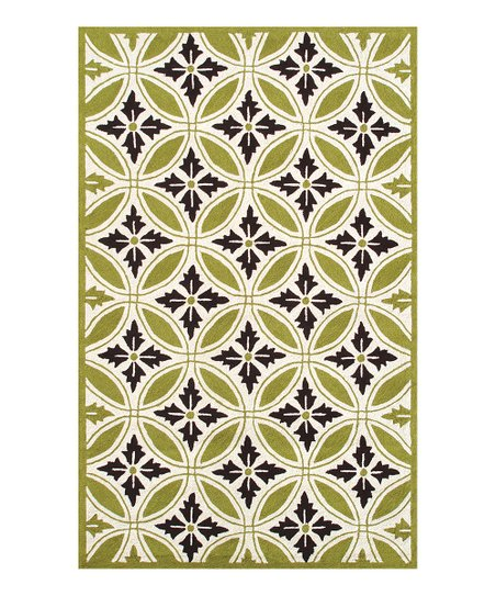 Green &amp; Cream Florin Rug