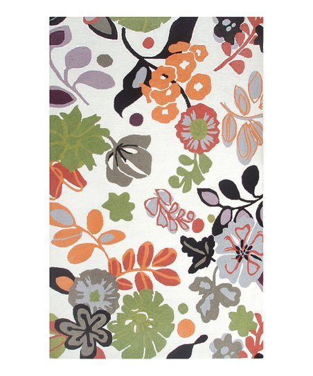 Green & Orange Grasmere Indoor/Outdoor Rug