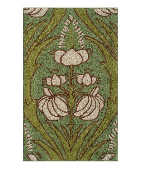 Green & Ivory Kelmscott Indoor/Outdoor Rug