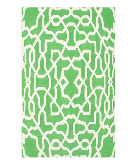 Green & White Yang Indoor/Outdoor Rug