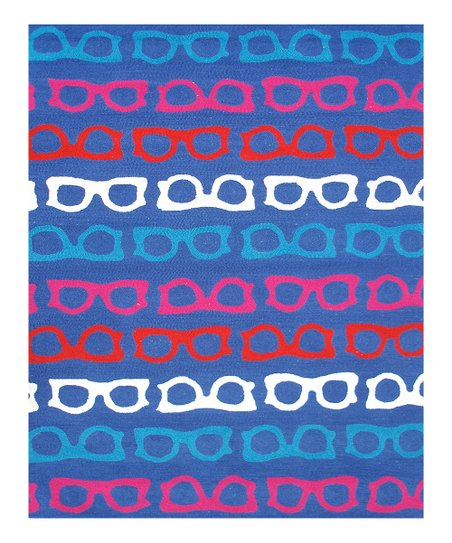Blue & Red Hepburn Indoor/Outdoor Rug