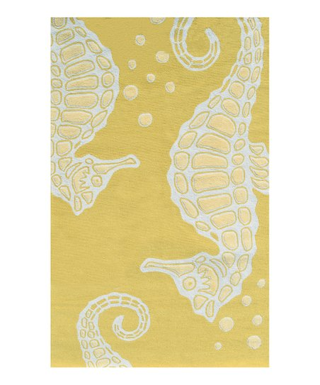 Yellow Sea Horse Indoor/Outdoor Rug