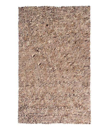 Brown Leather Deluxe Rug