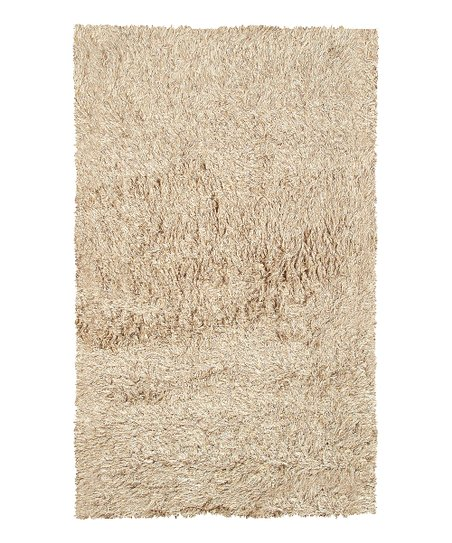 Tan & White Motion Rug