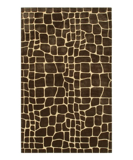 Brown &amp; Gold Crocodile Rug