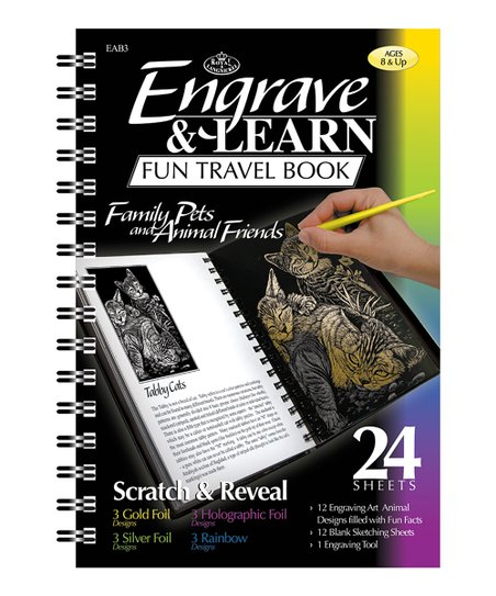 Family Pets Engrave & Learn Travel Book