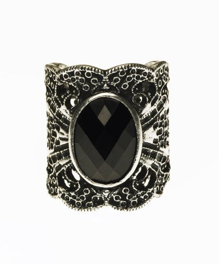 Silver & Black Oxidized Ring