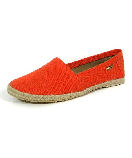 Orange Capri Espadrille Flat