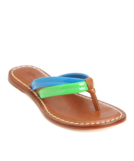 Green & Blue Patent Leather Miami Thong Sandal