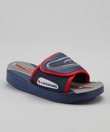 Navy & Red Slide