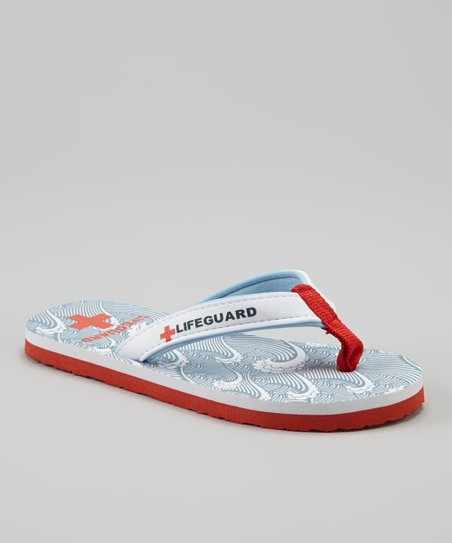 Grey & White Wave Drop Flip-Flop