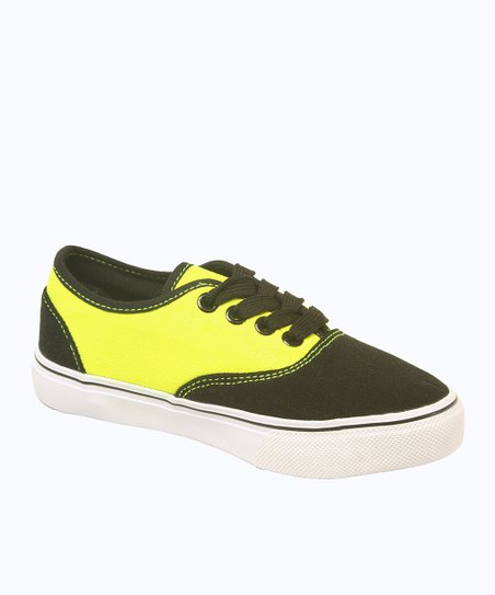 Black & Neon Yellow Dart Sneaker