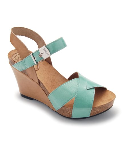 Aqua & Beige Atiris Wedge