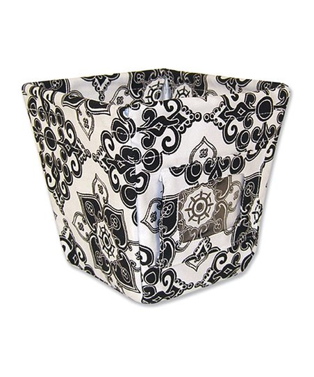 Black & White Versailles Small Fabric Storage Bin