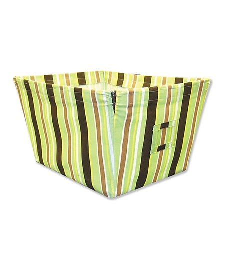 Giggles Stripe Large Fabric Storage Bin