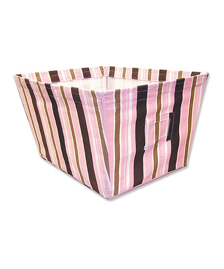 Maya Stripe Large Fabric Storage Bin