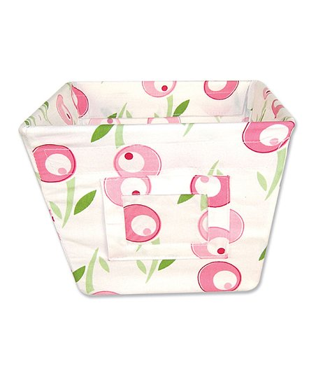Tulip Print Gift-Size Fabric Storage Bin