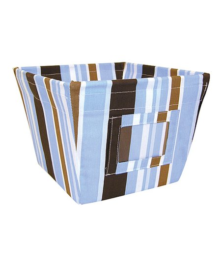 Max Stripe Gift-Size Fabric Storage Bin