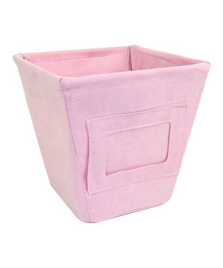 Pink Ultra Suede Small Fabric Storage Bin