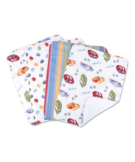 White NASCAR Bouquet Burp Cloth - Set of Four