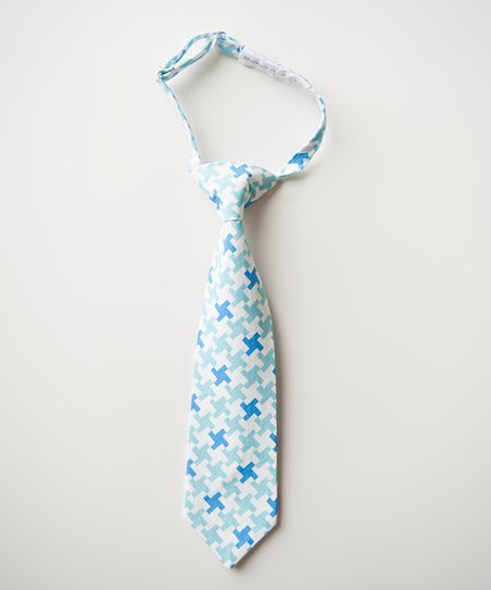 Blue & White Houndstooth Miles Tie