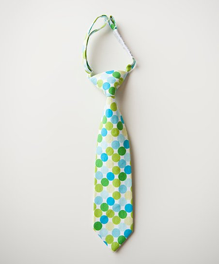 Blue & Green Polka Dot Tie