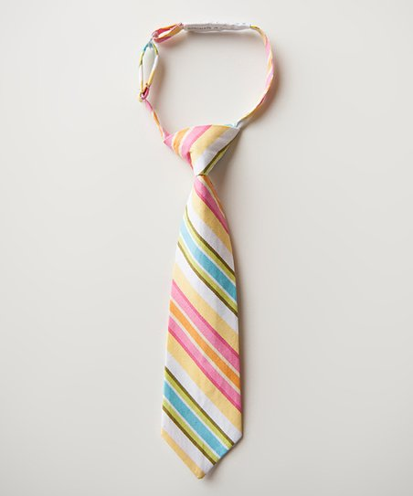 Pink & Orange Stripe Tie