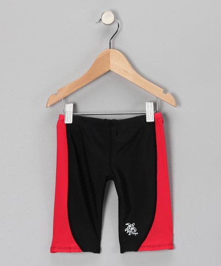Red & Black Jammers Shorts - Toddler & Boys
