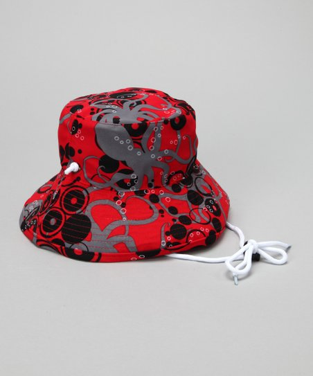 Crimson Squid Bucket Hat