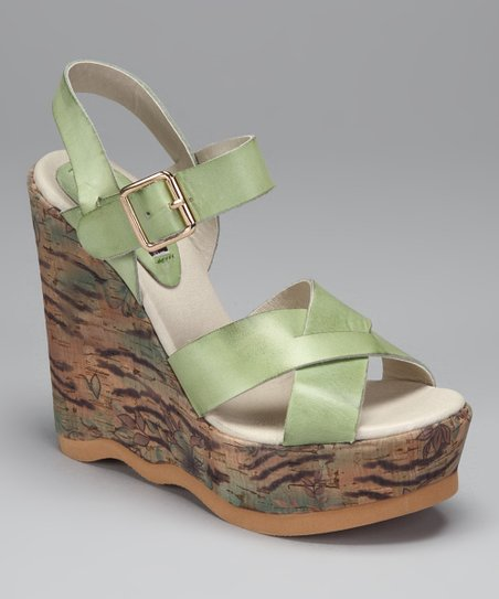 Mint Vespa Wedge Sandal