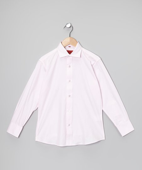 Light Pink Button-Up - Boys