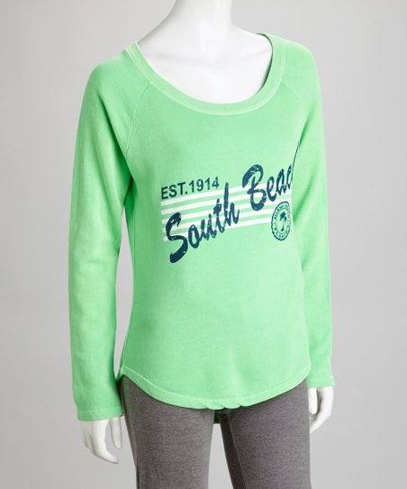 Green Cutout Sweatshirt