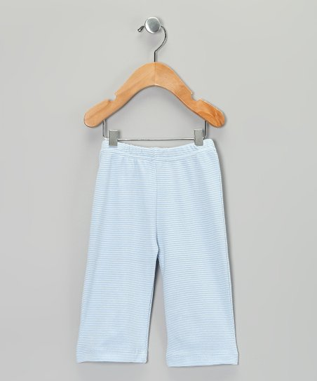 Blue Stripe Organic Pants - Infant