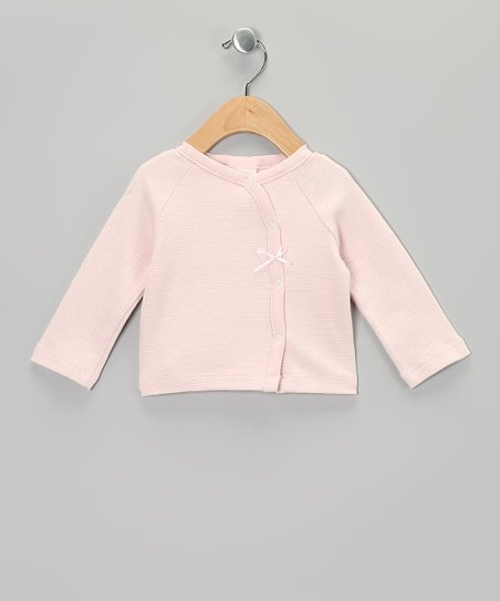 Pink Stripe Organic Long-Sleeve Wrap Top - Infant