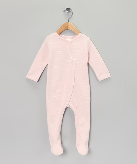 Pink Stripe Organic Footie - Infant