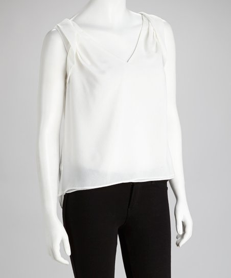 Ivory Sleeveless Hi-Low Top