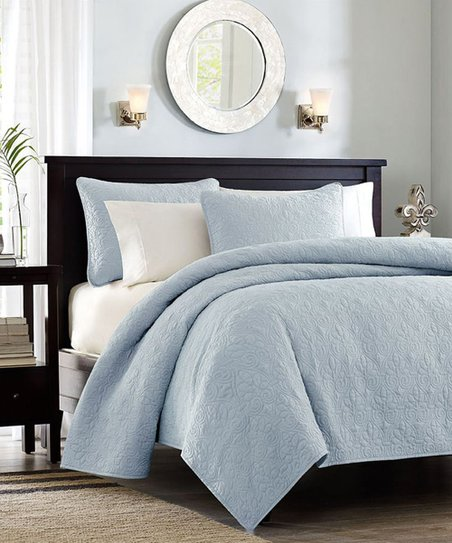 Blue Taylor Coverlet Set