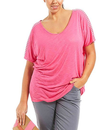 Fuchsia Axele Top - Plus