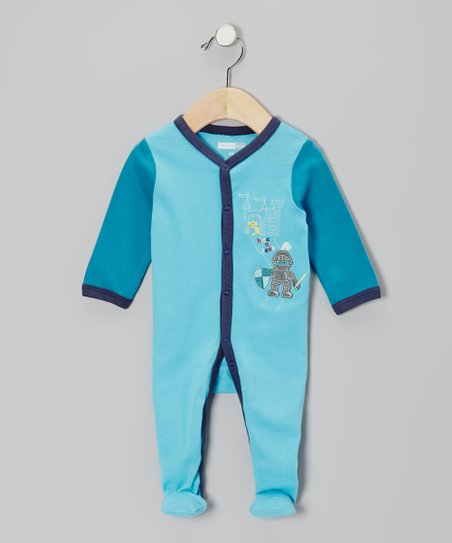 Turquoise Dragon Knight Footie - Infant