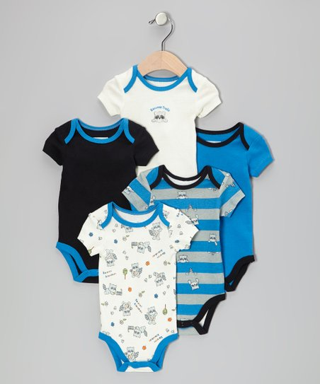 Blue Raccoon Trails Bodysuit Set - Infant