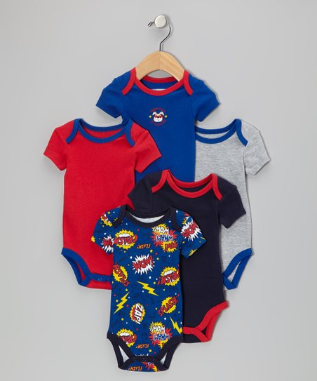 Royal Blue Superhero in Training Bodysuit Set - Infant