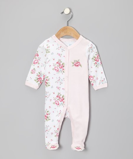 Pink Floral Footie - Infant