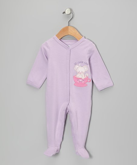 Lilac 'Lil' Cute Tea' Footie - Infant