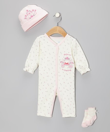 Ivory 'Princess in Training' Playsuit Set - Infant
