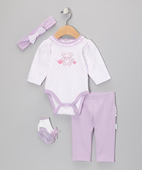 Lilac Mouse Bodysuit Set - Infant
