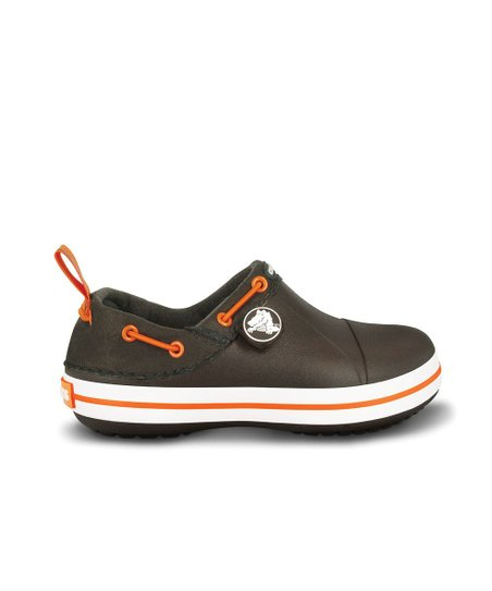 Espresso & Orange Crocband Gust Shoe - Kids