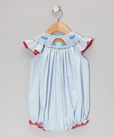 Blue Rainbow Gingham Bubble Bodysuit - Infant