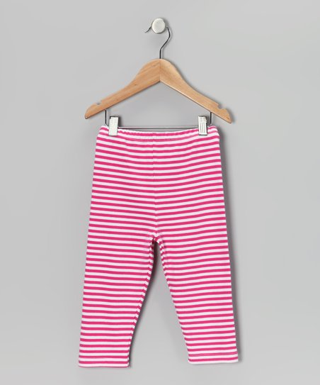 Pink & White Stripe Leggings - Infant, Toddler & Girls