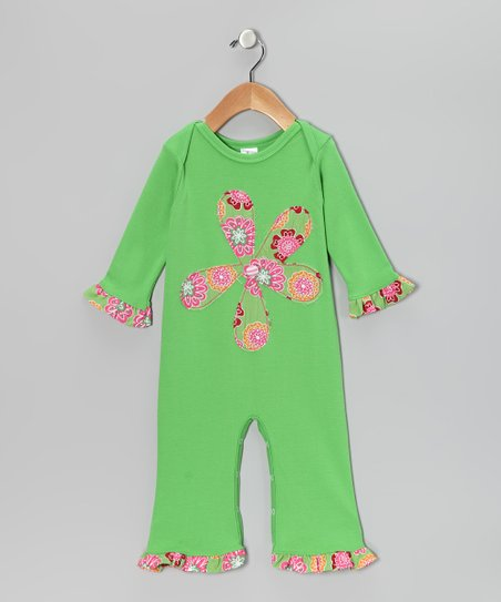 Lime Flower Playsuit - Infant