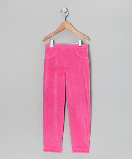 Pink Velour Pants - Infant, Toddler & Girls